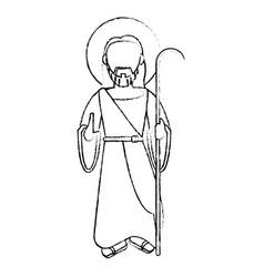 Jesus christ devotion sacrifice sketch vector