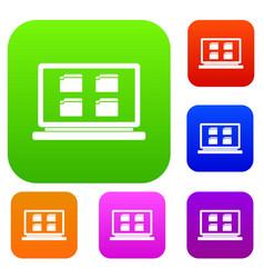 Desktop set collection vector