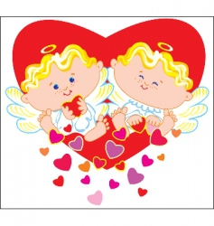 two angels vector image