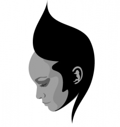 Hairstyle face design vector