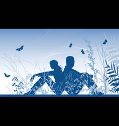 two lovers vector image