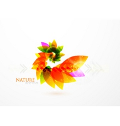 Creative leaves vector