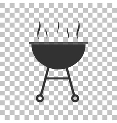 Barbecue simple sign dark gray icon on vector