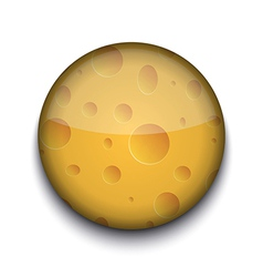 Cheese Pattern App Icon vector image vector image
