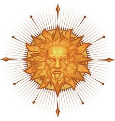 Decorative sun emblem vector image