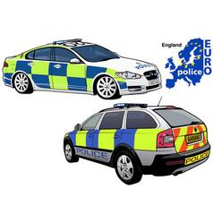 england police car vector image vector image