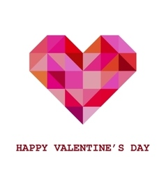 Geometric valentine greeting card vector