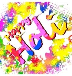 Happy holi vector