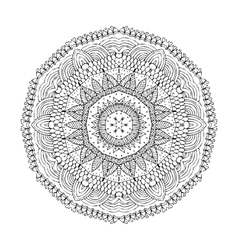 Mandala Round oriental pattern in indian style vector image vector image