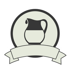 milk jar isolated icon vector image