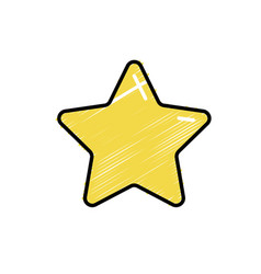 nice star spartly design icon vector image vector image