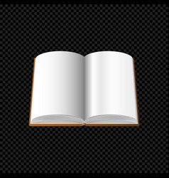 open book with blank pages isolated on transparent vector image vector image