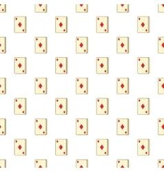 Playing card diamonds pattern cartoon style vector