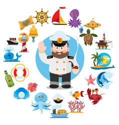 things that related to the voyage vector image