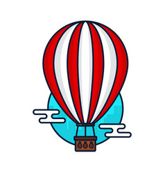 vintage hot air balloon modern vector image