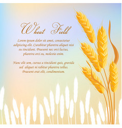 Wheat field agricultural concept vector