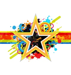 Fantastic star design background vector