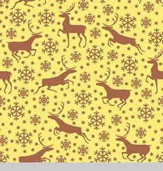 deer pattern brown vector image
