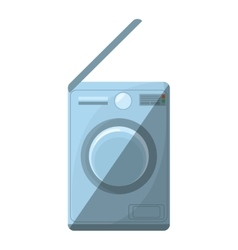 Washing machine home appliance shadow vector