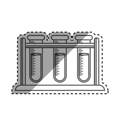Flask chemistry lab vector