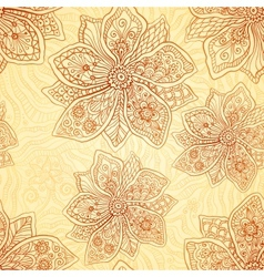 Henna colors ethnic style seamless pattern vector