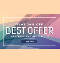 biggest offer sale discount deal banner template vector image