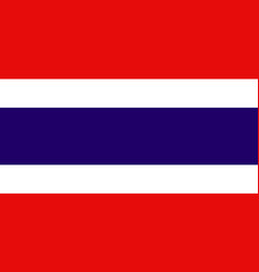 national flag kingdom of thailand vector image