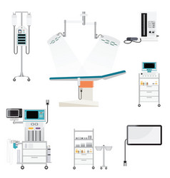 Medical hospital with medical equipment vector