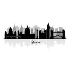 London skyline silhouette vector