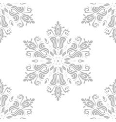 Damask seamless pattern orient grey vector