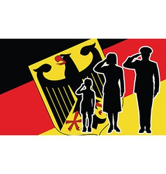Germany soldier family salute vector