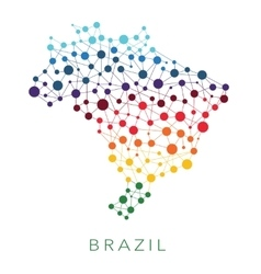 Dotted texture brazil background vector