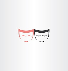 Theater symbol happy and sad masks icon vector