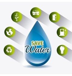 Save water design vector