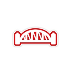 Paper sticker australian bridge on white vector
