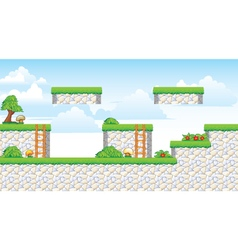 2d tileset platform game vector