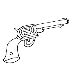 black and white gun vector image