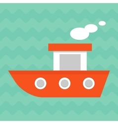 Bright summer boat vector