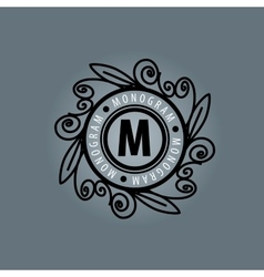 Monogram in frame vector