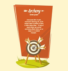 Archery poster background vector