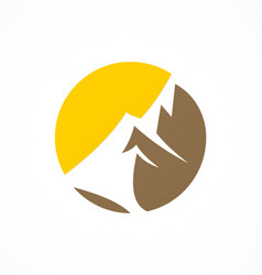 Abstract mountain logo vector