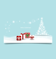 Christmas background with christmas tree and vector