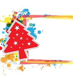 christmas banner design with grunge background vector image vector image