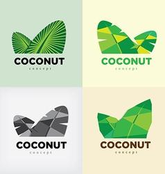 coconut concept logo vector image vector image