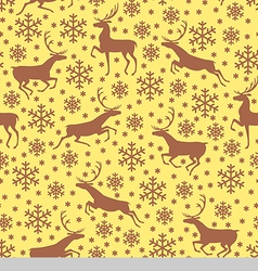 deer pattern brown vector image
