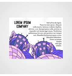 Design of brochure company with doodle abstract vector image