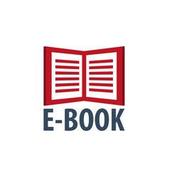 e book store logo education and book emblem vector image vector image