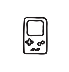 Electronic game sketch icon vector
