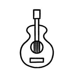 Figure guitar music instrument to melody harmony vector