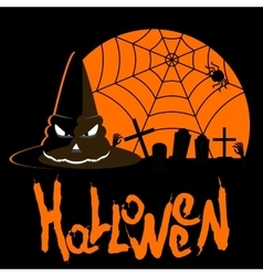 helloween poster hat vector image